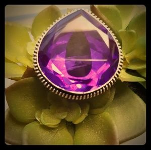 New Purple Mystic Topaz Silver Ring. Size 8.75